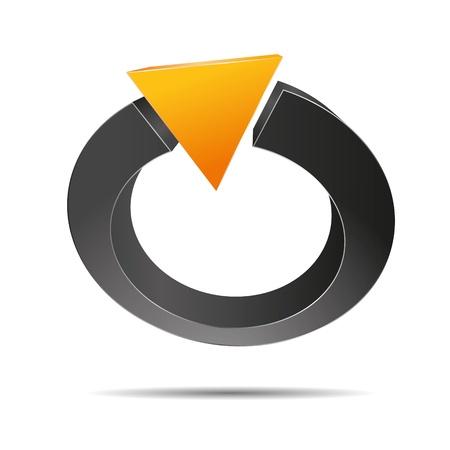 trademark: 3D abstracto anillo de perlas joyas pir�mide triangular naranja verano sol s�mbolo corporativo dise�o icono logotipo marca