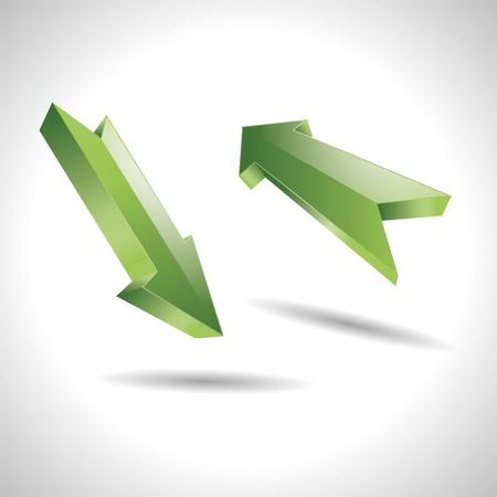 flecha direccion: 3D abstracto direcci�n flecha verde puntero dise�o ic�nico logo marca
