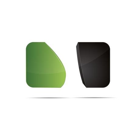 eco slogan: 3D abstracto verde natue cubo eco bio redondeo ola barriendo icono de dise�o de marcas logo Vectores