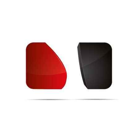 rounding: 3D abstract  red cube rounding wave sweeping design icon logo trademark Illustration