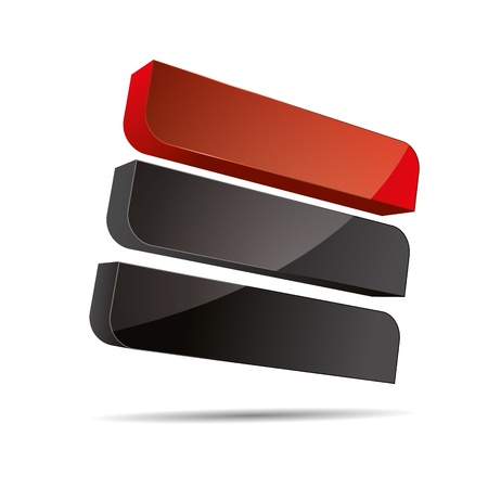 firma: 3D abstract corporate red stiff rectangle cube line sail design icon logo trademark Illustration