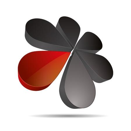 firma: 3D abstract drip flower circular round sun sunflower symbol corporate design icon logo trademark
