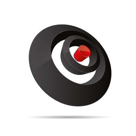 firma: 3D abstract circular round rings point pin symbol corporate design icon logo trademark