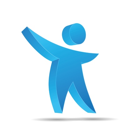 trademark: 3D hijos figura abstracta del agua azul del oc�ano cielo corporativo dise�o ic�nico logo marca