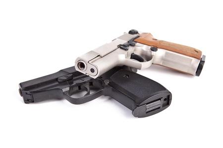 pistol police revolver firearm crime protect sport aggression war rampage terror Stock Photo - 16221343