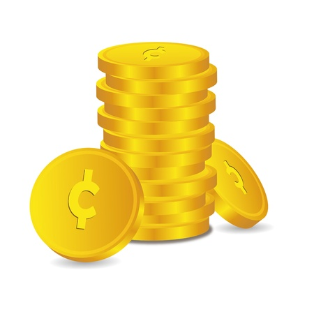 Bank credit coin capital credits gold money tal euro vector rewarding sweetheart symbol credit Vector