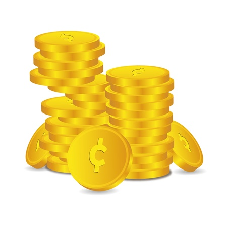 electronically: Bank credit coin capital credits gold money tal euro vector rewarding sweetheart symbol credit
