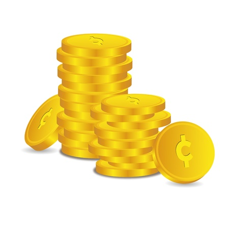 Bankkrediet muntstuk hoofdstad kredieten goud geld tal euro vector belonen liefje symbool krediet