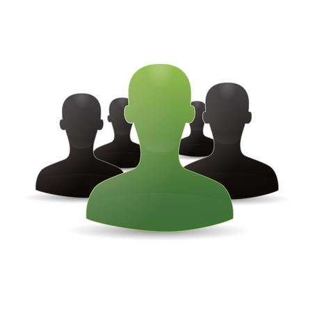 Figure chat network social community teamwork communal chat forum service marketing partner Stock Vector - 16220339