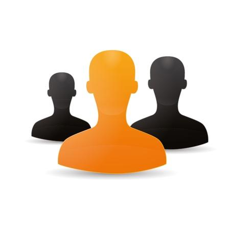 Figure chat network social community teamwork communal chat forum service marketing partner Stock Vector - 16220337