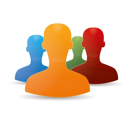 Abbildung Chat-Netzwerk Social Community Teamwork kommunalen Chat-Forum-Service Marketing-Partner Illustration