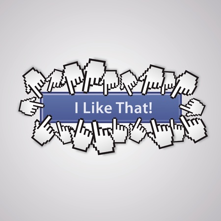 I like that cursor mouse social network handzeichen business internet link button I like