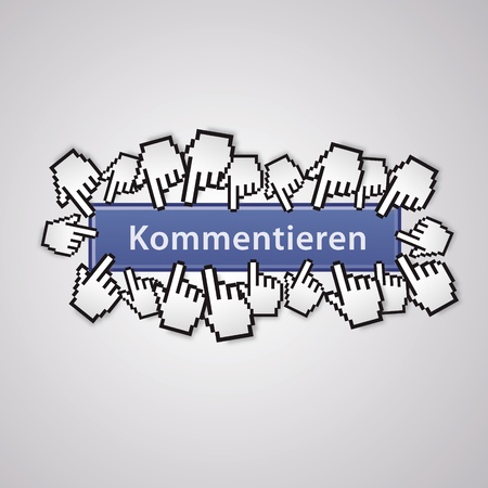 mauszeiger: annotate mouse cursor social network handzeichen business internet link button I like Illustration