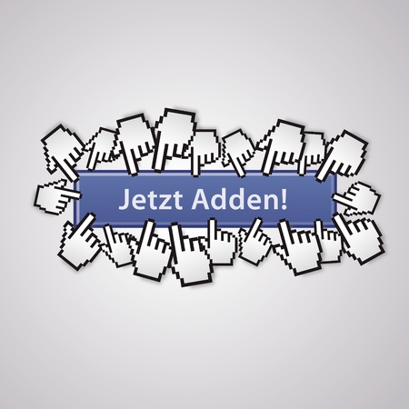 mauszeiger: now adden mauszeiger social network handzeichen business internet link button I like Illustration