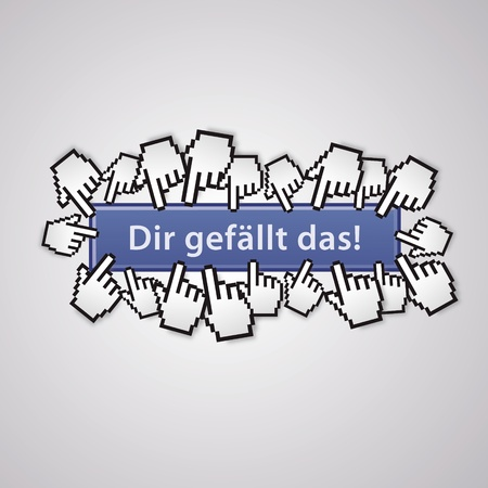 mauszeiger: Like the hand sign mauszeiger social network business internet link button I like