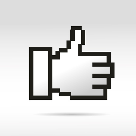 mauszeiger: thumb mouse social network help handzeichen business internet link button I like Illustration