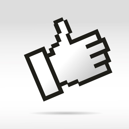 thumb mouse social network help handzeichen business internet link button I like Vector