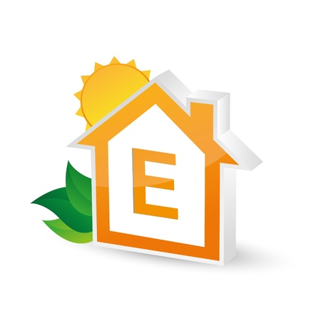 ordinance: energy class energieberatung bar chart efficiency rating electrical appliances consuming environment Illustration