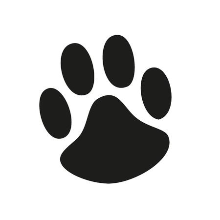 Animal Paw pet wolf paw paw bear footprint animal paw cat paw fingerprint impression Vector