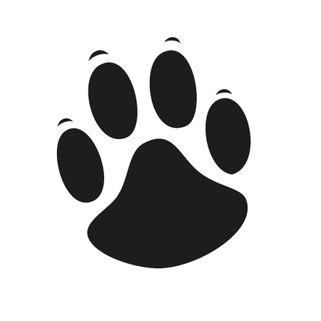 Animal Paw pet wolf paw paw bear footprint animal paw cat paw fingerprint impression Vector