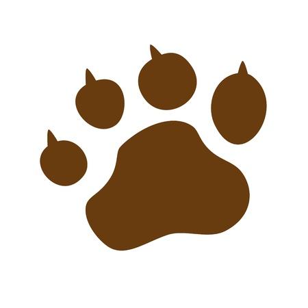 huellas de animales: La pata de animal de compañía lobo pata pata de oso garras huella de la pata del gato pata impresión de huellas digitales