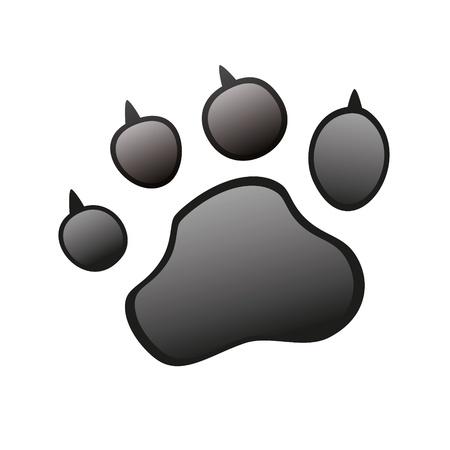 snuffelen: Animal Paw huisdier wolf Paw Paw beer footprint klauwen poot kat poot vingerafdruk indruk Stock Illustratie