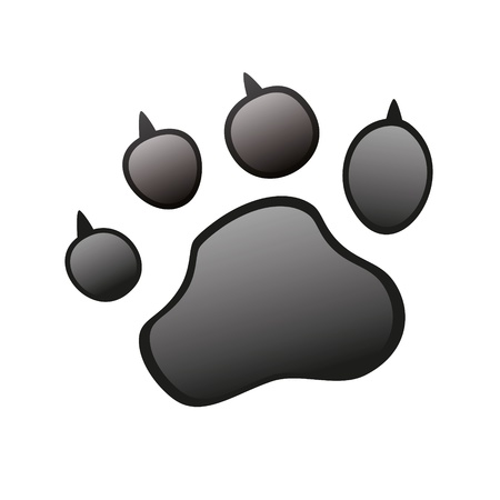exempted: Animal Paw pet wolf paw paw  bear footprint claws paw cat paw fingerprint impression
