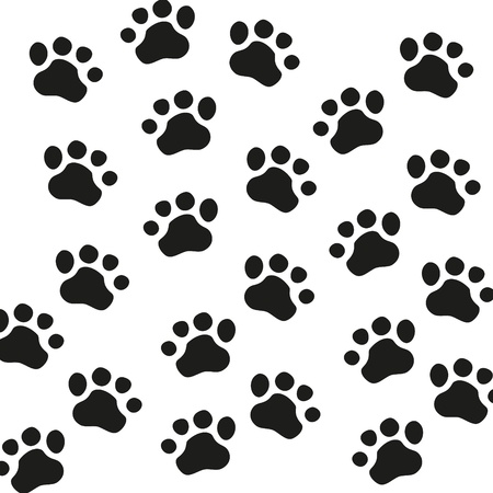 impression: Animal Paw pet wolf paw paw  bear footprint animal paw cat paw fingerprint impression Illustration