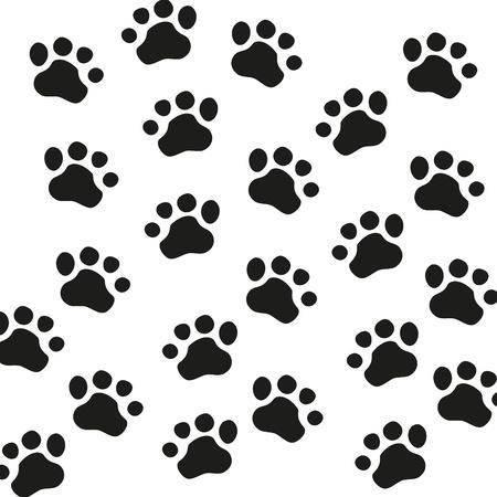 Animal Paw pet Wolf Paw Paw bear-Fußabdruck Tier Pfote Katze Pfote Fingerabdruck Eindruck Vektorgrafik