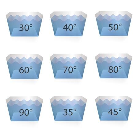 textile care: S�mbolos textiles de atenci�n lavado suavizado de limpieza en seco lavado s�mbolo se�al lavado grado Vectores