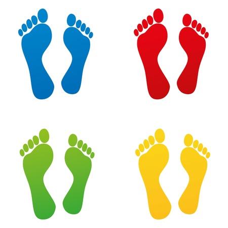 huella pie: olfatear las huellas del pie descalzo huella de b�squeda kindergarten off set pista