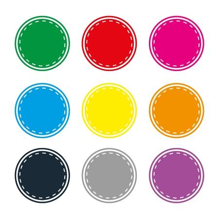 badges badge set shop collection advertising placard sticker label web button action Stock Vector - 19029985