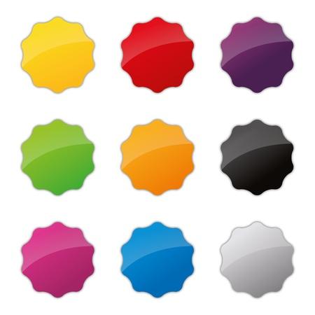 badges badge set shop collection advertising placard sticker label web button action Stock Vector - 19029995