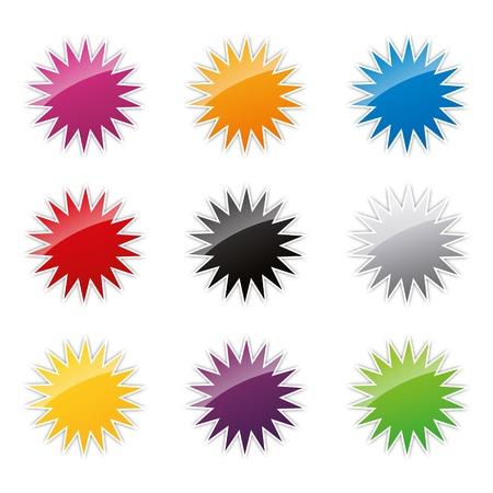 badges badge set shop collection advertising placard sticker label web button action Stock Vector - 19029999