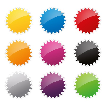 cheap prices: badges badge set shop collection advertising placard sticker label web button action