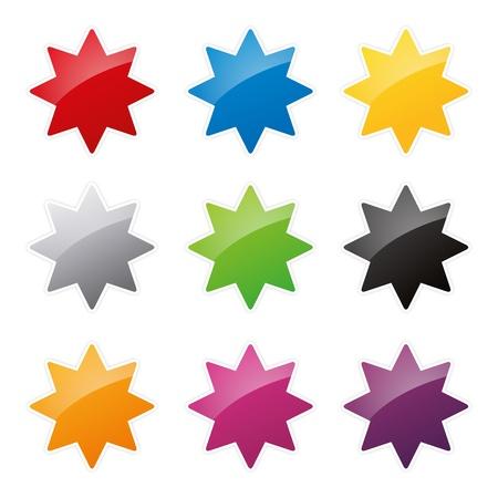 badges badge set shop collection advertising placard sticker label web button action Stock Vector - 19030013