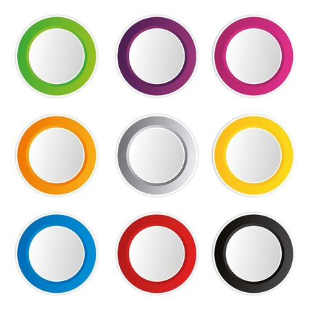 badges badge set shop collection advertising placard sticker label web button action Vector