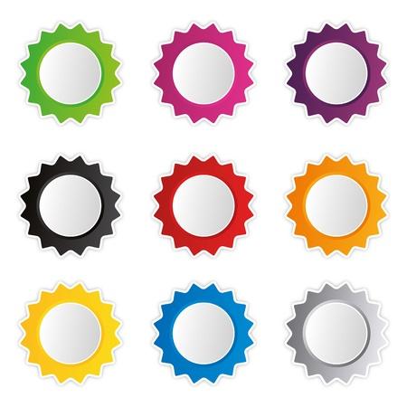 stagiaire: -insigne set boutique collection publicit� �criteau �tiquette autocollant action du bouton Web Illustration