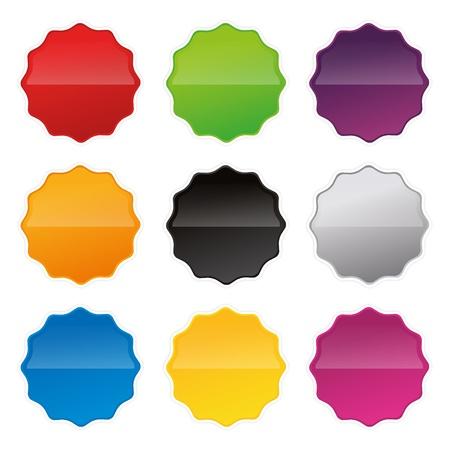 badges badge set shop collection advertising placard sticker label web button action Stock Vector - 19029997