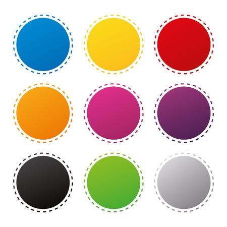 badges badge set shop collection advertising placard sticker label web button action Stock Vector - 19029987