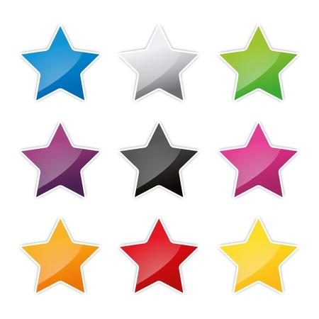 badges badge set shop collection advertising placard sticker label web button action Stock Vector - 19029990
