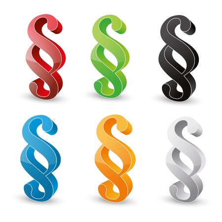 3D Paragraph sign symbol Stock Vector - 19248220