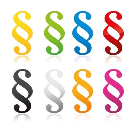 3D paragraph sign symbol Stock Vector - 19248202