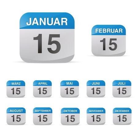 august calendar: calendar set icon symbol month year calendar sheet kalendarium birthday holiday office diary