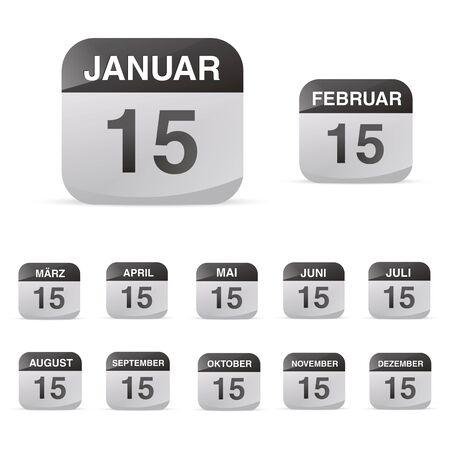 todo: calendar set icon symbol month year calendar sheet kalendarium birthday holiday office diary
