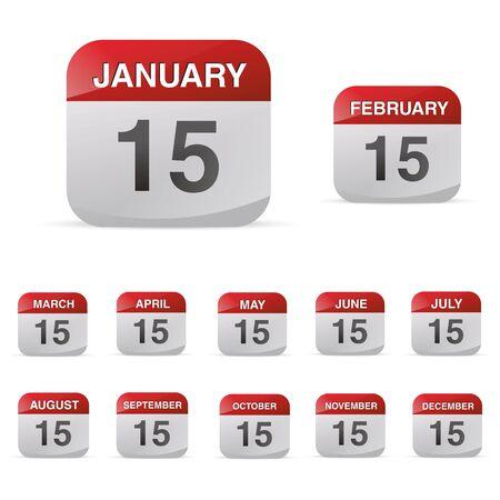 may calendar: calendar set icon symbol month year calendar sheet kalendarium birthday holiday office diary