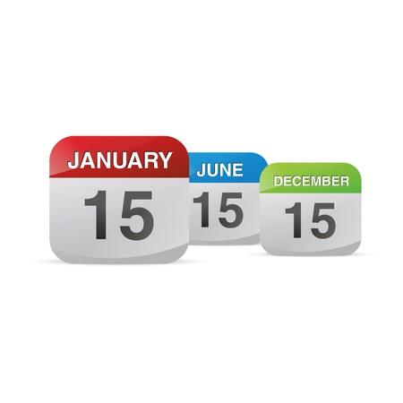 calendario julio: calendario conjunto de iconos símbolo mes año natural hoja kalendarium diario de la oficina del día de cumpleaños