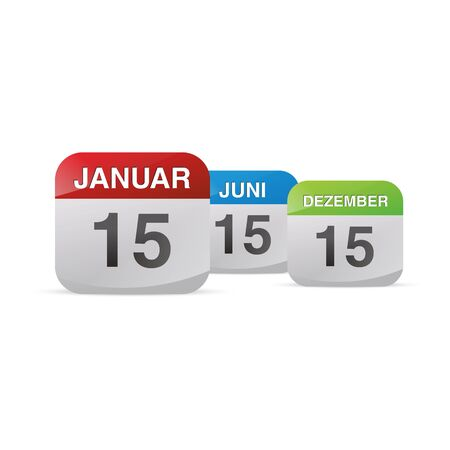 schedule system: calendar set icon symbol month year calendar sheet kalendarium birthday holiday office diary