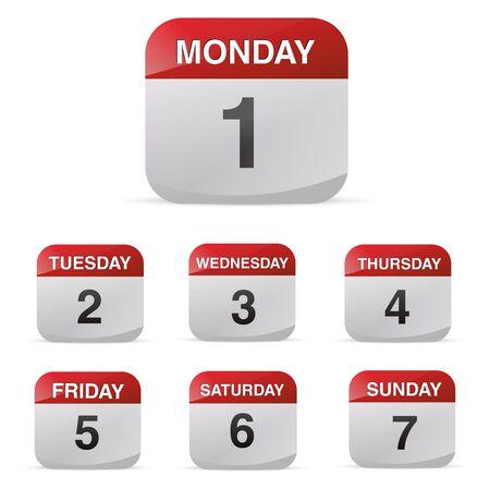 school days: calendar set icon symbol month year calendar sheet kalendarium birthday holiday office diary