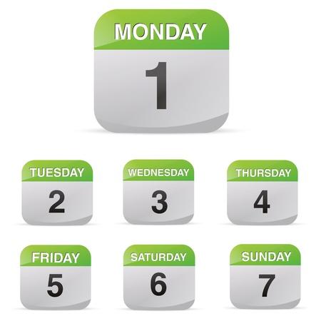 calendar set icon symbol month year calendar sheet kalendarium birthday holiday office diary Stock Vector - 19422252